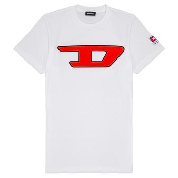 vaatteet Lapset Lyhythihainen t-paita Diesel TJUSTDIVISION White