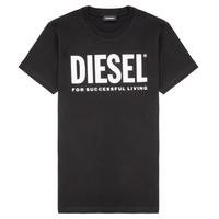 vaatteet Lapset Lyhythihainen t-paita Diesel TJUSTLOGO Musta