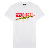 vaatteet Pojat Lyhythihainen t-paita Diesel TDIEGOBX2 White