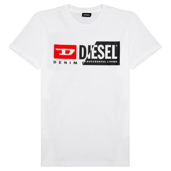 vaatteet Lapset Lyhythihainen t-paita Diesel TDIEGOCUTY Valkoinen
