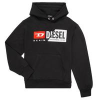 vaatteet Lapset Svetari Diesel SGIRKHOODCUTY Black
