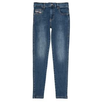 vaatteet Tytöt Slim-farkut Diesel D-SLANDY HIGH Sininen