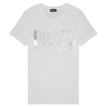 vaatteet Tytöt Lyhythihainen t-paita Diesel TSILYWX White