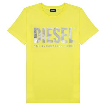 vaatteet Tytöt Lyhythihainen t-paita Diesel TSILYWX Keltainen