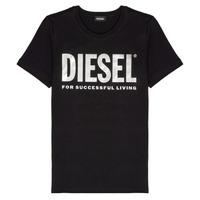 vaatteet Tytöt Lyhythihainen t-paita Diesel TSILYWX Musta