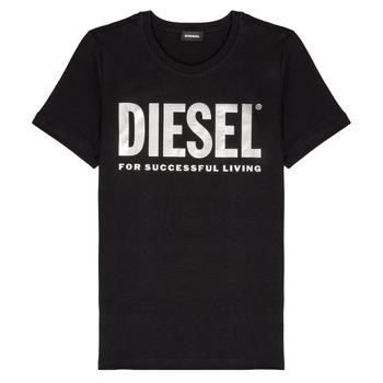 vaatteet Tytöt Lyhythihainen t-paita Diesel TSILYWX Black