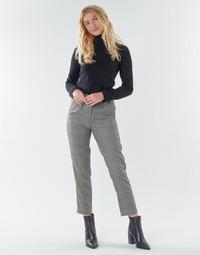 vaatteet Naiset 5-taskuiset housut Freeman T.Porter SHELBY MERCURY Harmaa