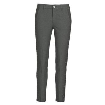 vaatteet Naiset 5-taskuiset housut Freeman T.Porter CLAUDIA POLYNEO Harmaa