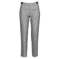 vaatteet Naiset 5-taskuiset housut Freeman T.Porter SHELBY MOKKA Grey / Clair