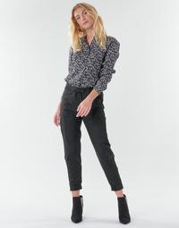 vaatteet Naiset 5-taskuiset housut Freeman T.Porter CELINE SILIANO Musta