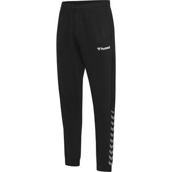 vaatteet Miehet Verryttelyhousut Hummel Pantalon  hmlAUTHENTIC noir/blanc