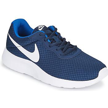 kengät Miehet Matalavartiset tennarit Nike TANJUN Blue / White