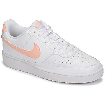 kengät Naiset Matalavartiset tennarit Nike COURT VISION LOW Valkoinen / Vaaleanpunainen
