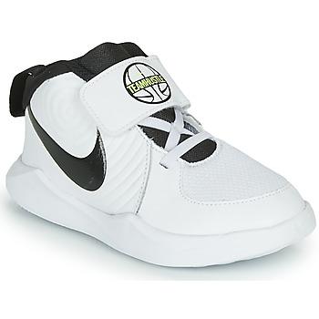 kengät Pojat Koripallokengät Nike TEAM HUSTLE D 9 TD White / Black