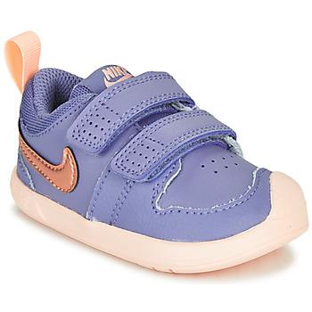 kengät Tytöt Matalavartiset tennarit Nike PICO 5 TD Violetti / Vaaleanpunainen