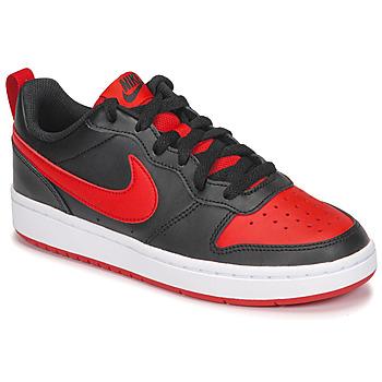 kengät Lapset Matalavartiset tennarit Nike COURT BOROUGH LOW 2 GS Black / Red