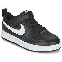 kengät Lapset Matalavartiset tennarit Nike COURT BOROUGH LOW 2 PS Black / White