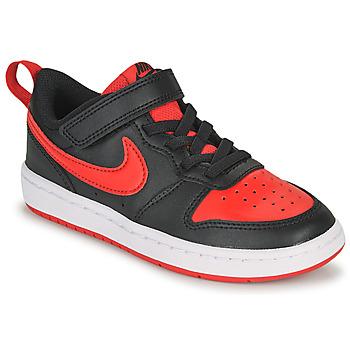 kengät Lapset Matalavartiset tennarit Nike COURT BOROUGH LOW 2 PS Musta / Punainen