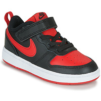kengät Lapset Matalavartiset tennarit Nike COURT BOROUGH LOW 2 TD Black / Red