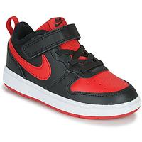 kengät Lapset Matalavartiset tennarit Nike COURT BOROUGH LOW 2 TD Musta / Punainen