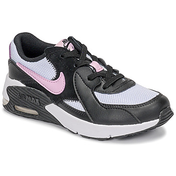 kengät Tytöt Matalavartiset tennarit Nike AIR MAX EXCEE PS Black / White / Pink