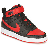 kengät Lapset Korkeavartiset tennarit Nike COURT BOROUGH MID 2 GS Black / Red
