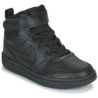kengät Lapset Korkeavartiset tennarit Nike COURT BOROUGH MID 2 PS Black