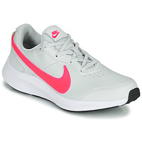kengät Tytöt Matalavartiset tennarit Nike VARSITY LEATHER GS White / Pink