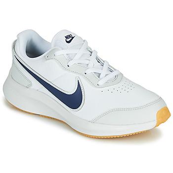 kengät Pojat Matalavartiset tennarit Nike VARSITY LEATHER GS Valkoinen / Sininen
