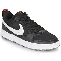kengät Lapset Matalavartiset tennarit Nike COURT BOROUGH LOW 2 MTF GS Black / White