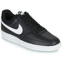 kengät Miehet Matalavartiset tennarit Nike COURT VISION LOW Musta / Valkoinen