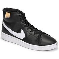 kengät Miehet Matalavartiset tennarit Nike COURT ROYALE 2 MID Musta / Valkoinen