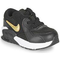 kengät Lapset Matalavartiset tennarit Nike AIR MAX EXCEE TD Black / Kulta