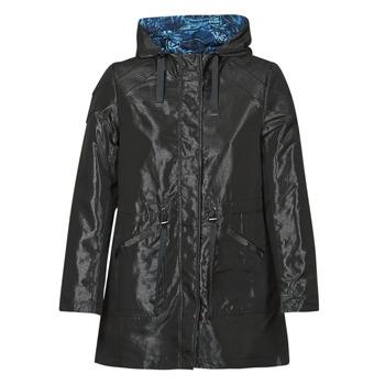 vaatteet Naiset Parkatakki One Step FR42001 Musta