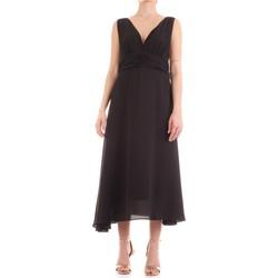 vaatteet Naiset Pitkä mekko Fly Girl 9845-01 Nero