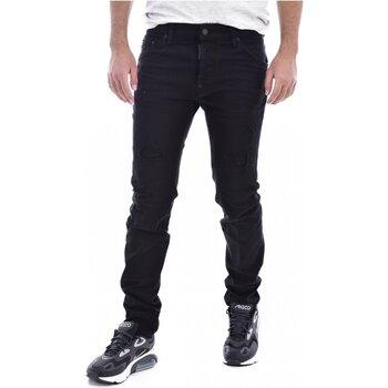 vaatteet Miehet Slim-farkut Dsquared S71LB0525 Black