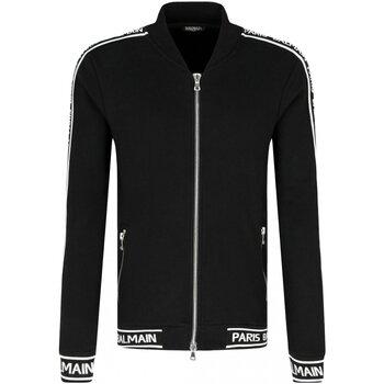 vaatteet Miehet Ulkoilutakki Balmain RH08900 Musta