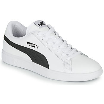 kengät Miehet Matalavartiset tennarit Puma SMASH White / Black