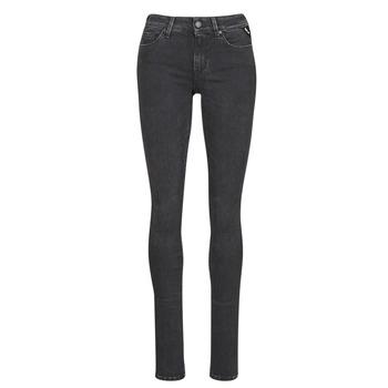 vaatteet Naiset Slim-farkut Replay LUZ / HYPERFLEX / RE-USED Black
