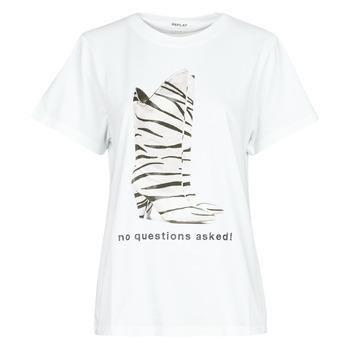 vaatteet Naiset Lyhythihainen t-paita Replay W3509D White