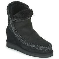 kengät Naiset Bootsit Mou ESKIMO INNER WEDGE SHORT Black