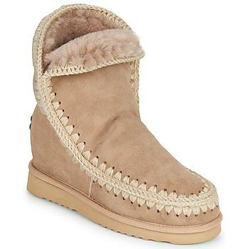 kengät Naiset Bootsit Mou ESKIMO INNER WEDGE SHORT Beige