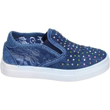 kengät Tytöt Tennarit Asso slip on tessuto Blu