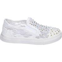 kengät Tytöt Tennarit Asso slip on tessuto Bianco
