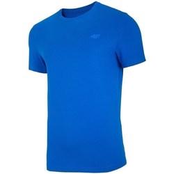 vaatteet Miehet Lyhythihainen t-paita 4F TSM003 Vaaleansiniset