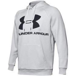 vaatteet Miehet Svetari Under Armour Rival Fleece Logo Hoodie Harmaat
