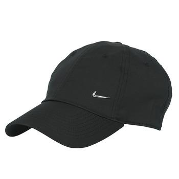 Asusteet / tarvikkeet Lippalakit Nike U NSW H86 METAL SWOOSH CAP Black / Hopea