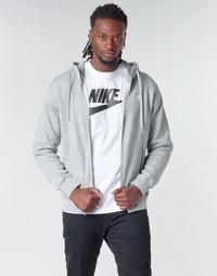 vaatteet Miehet Svetari Nike M NSW CLUB HOODIE FZ BB Harmaa