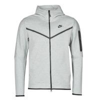 vaatteet Miehet Ulkoilutakki Nike M NSW TCH FLC HOODIE FZ WR Harmaa / Musta