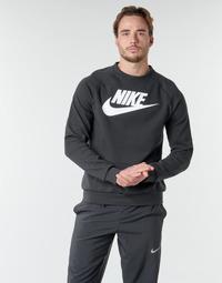 vaatteet Miehet Svetari Nike M NSW MODERN CRW FLC HBR Black / White